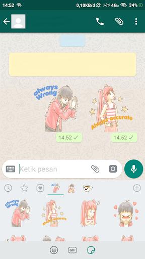 couple romantic stickers for whatsapp screenshot 2