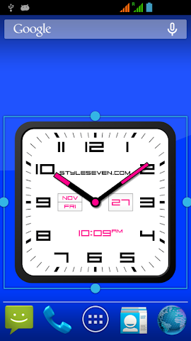 android Square Clock Android-7 PRO Screenshot 2