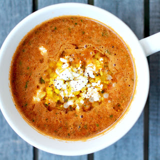 Fire Roasted Tomato Soup with Chickpeas and Israeli Couscous