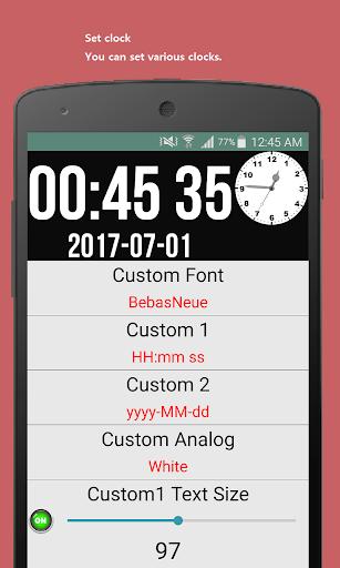Date seconds Widget 2.16 screenshots 2