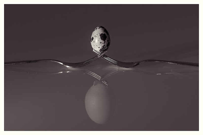 Uovo Quaglia Vs Uovo Gallina di Rino Lio