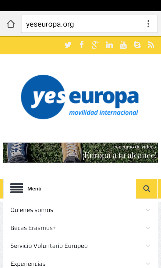 YesEuropa APP- screenshot