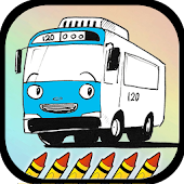 Toya Little Bus Coloring Game