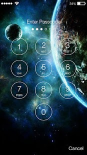Earth Space Lock Screen - náhled