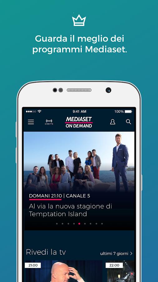 mediaset on demand app android su google play