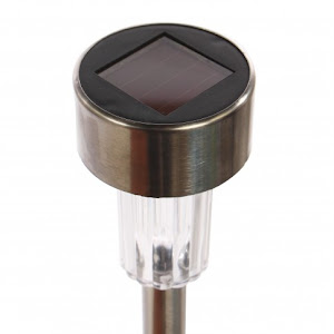 Lampa solara stick inox, H 36 cm, set 6 bucati