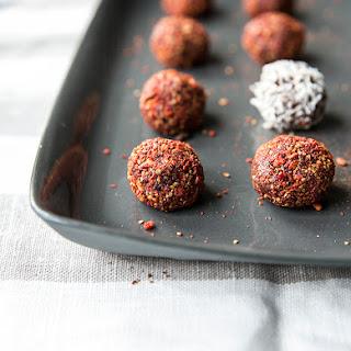 Hazelnut Truffles Rolled In Goji Berries