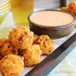 Sausage & Jalapeno Poppers w/ Beer Cheese Dipping Sauce.
