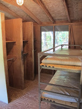 Photo: Eluta Cabin Interior Eluta Cabins have cubby space for storing belongings