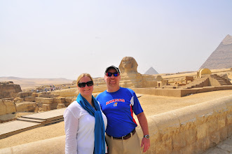 Photo: Jeanette and I in front of the Sphinx