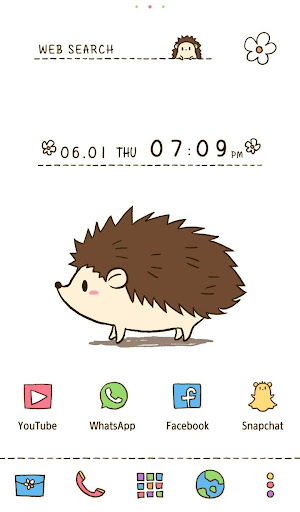Wallpaper Cute Hedgehog Theme 1.0.0 Windows u7528 1