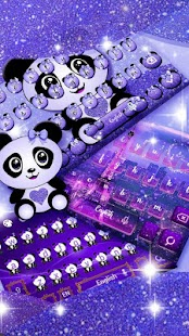 Dreamy Galaxy Panda Keyboard Theme - náhled