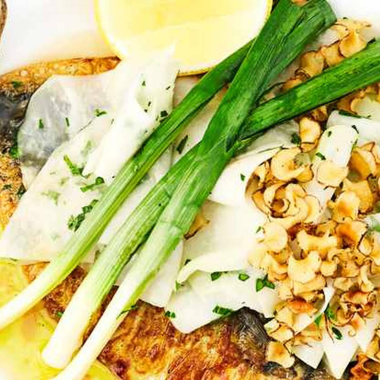 summative Roast Mackerel, Leeks, Kohlrabi and Jerusalem Artichokes