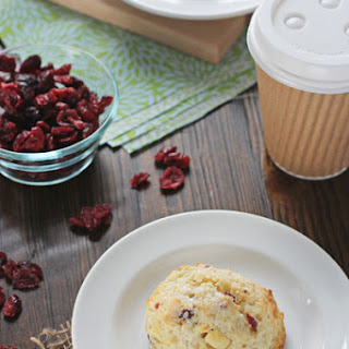 Cranberry Orange White Chocolate Scones