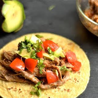 Slow Cooker Shredded Beef Tacos.