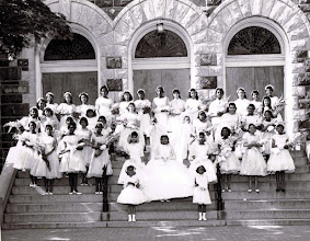 Photo: 1961 May Procession Court_ Theresa Wilson- May Queen_St Cyprian Parish