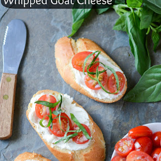 Tomato Crostini with Whipped Goat Cheese