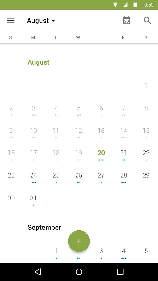 BlackBerry Calendar- screenshot