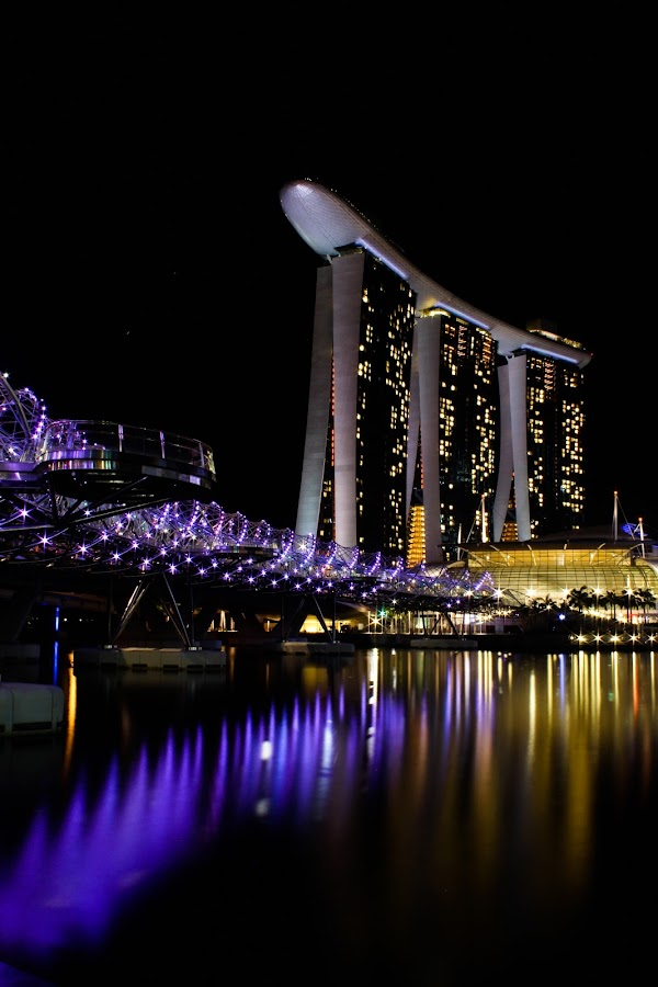 Marina Bay Sands by Kai Jian - Buildings & Architecture Other Exteriors ( helix bridge, marina bay sands, marina bay, singapore, pwcreflections-dq )