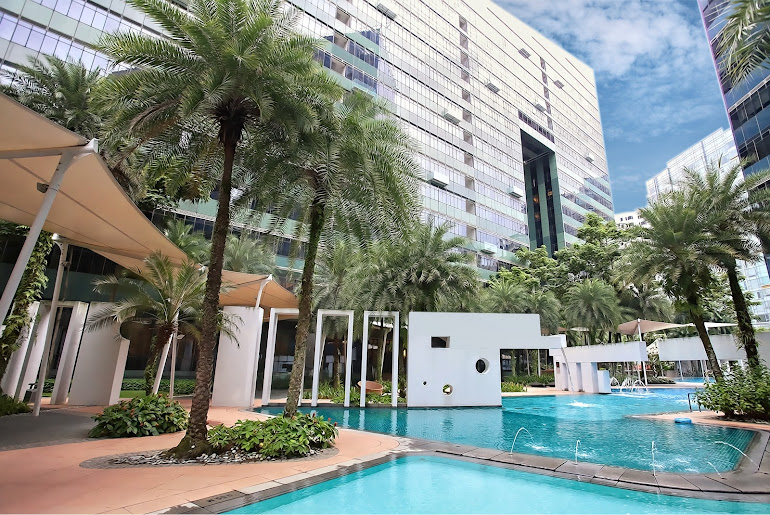 Pool side at Anthony Rd Residences, Orchard Road