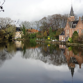 Brugge by Luis Felipe Moreno Vázquez - City,  Street & Park  Vistas ( gent, reflections, travel, water, lake, belgium )