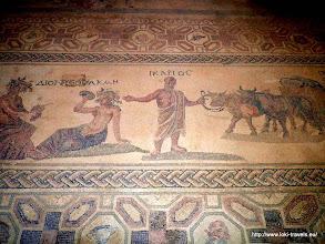 Photo: Paphos. Huis van Dyonisos. Mozaiekvloer 30 jaar geleden ontdekt | Paphos. House of Dyonisos. Mosaic floor discovered 30 years ago.