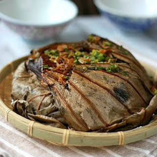Savoury Lotus Leaf Steamed Rice.