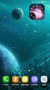Galaxii Hodiny Widget - náhled
