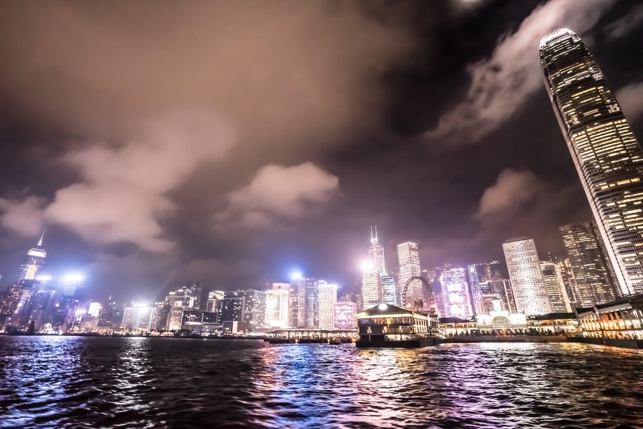 香港 スターフェリー 夜景1