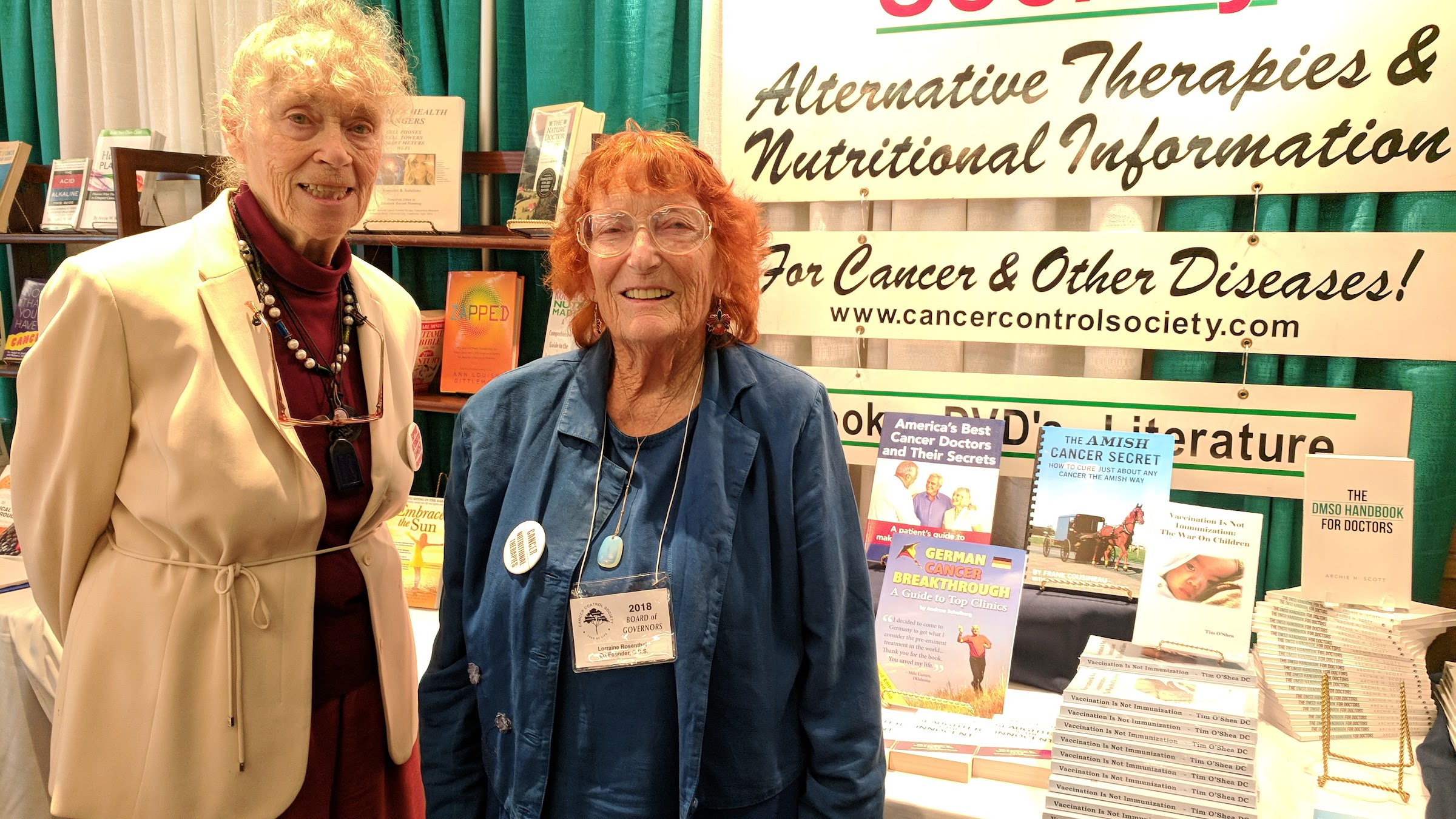 Betsy Manning and Lorraine Rosenthal at the Cancer Book House