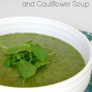 Low Carb Watercress and Cauliflower Soup.