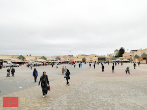 Photo: the city square of Meknes