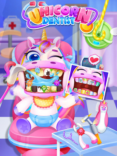 Unicorn Dentist: capturas de pantalla del Rainbow Pony Beauty Salon 7