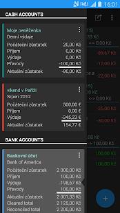 Moje výdaje - náhled