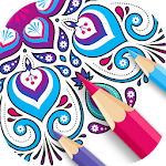 Mandala Coloring Games - Colorful - Coloring Book Icon
