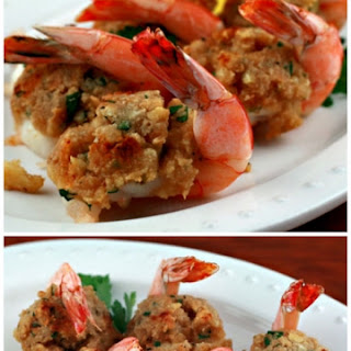 Baked Stuffed Shrimp.
