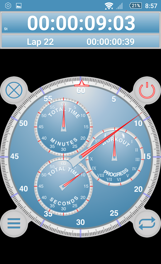 Analog Interval Stopwatch Pro- screenshot