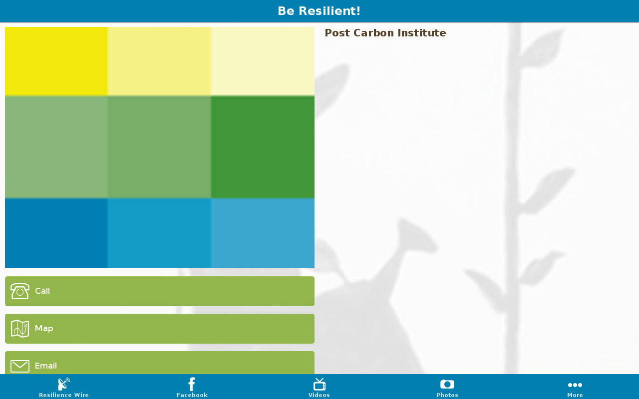 Resilience- screenshot