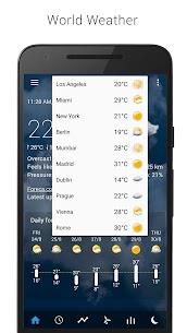 Transparent clock weather Premium 8