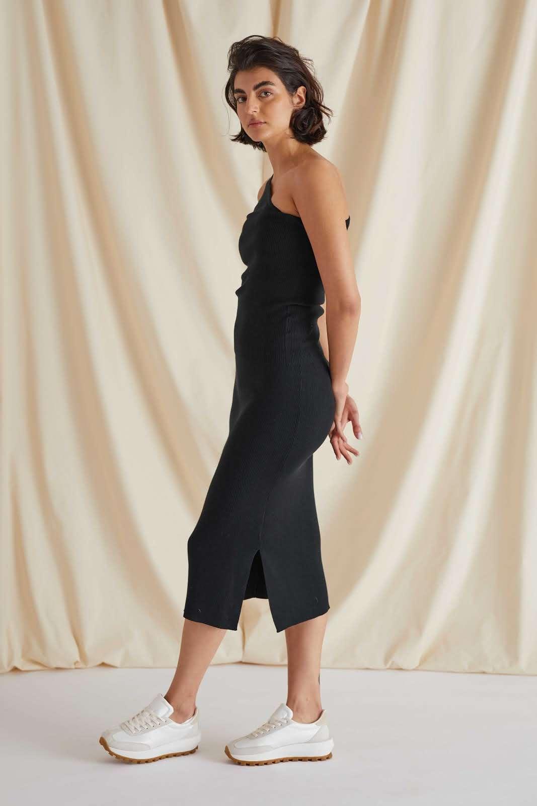 Fine Knit Rib Skirt