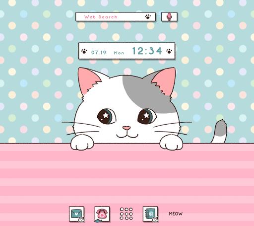 Cute Wallpaper Peeking Cat Theme ss1