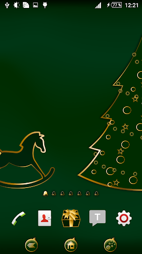 Xmas green gold theme