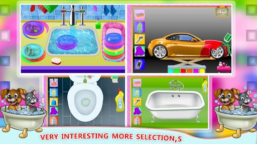 Elsa Home Cleaning Gamesu2013 Garage Dust Clean Up- apktram screenshots 12