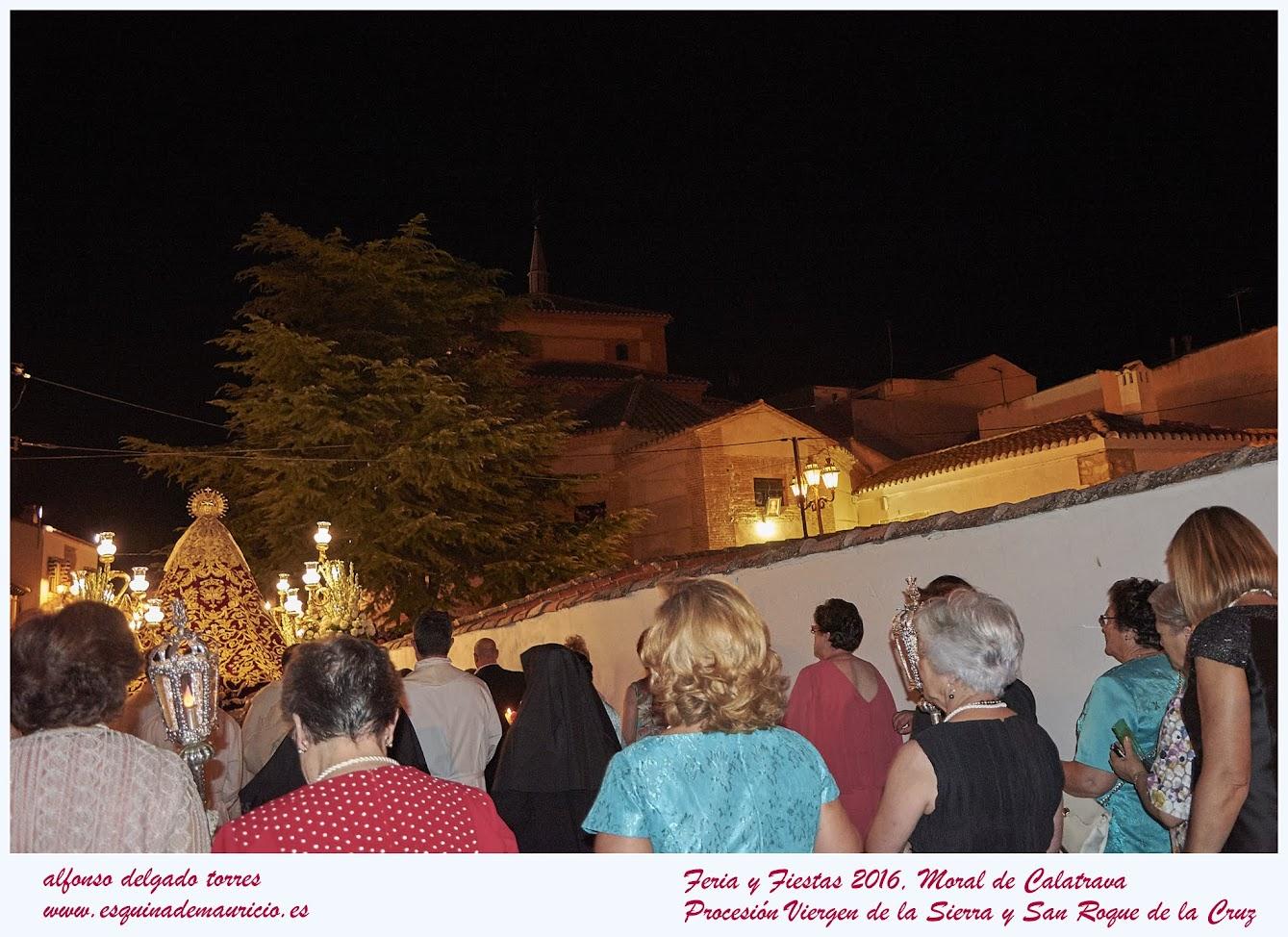 Procesión Virgen de la Sierra y San Roque de la Cruz