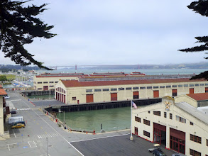 Photo: Looking down on Fort Mason from shoreline trail