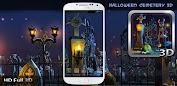 Halloween Cemetery 3D LWP Appar för Android screenshot