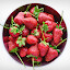Sweet red by Alina Dinu - Food & Drink Fruits & Vegetables ( bowl, fruit, red, green, white, strawberry,  )