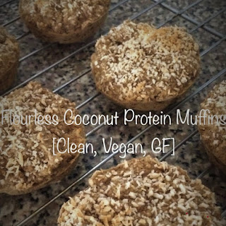 Flourless Coconut Protein Muffins [Clean, Vegan, GF].