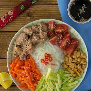 Chinese Tuna Vermicelli Salad