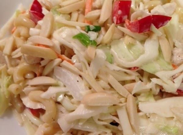 Chicken Macaroni Slaw  Salad W/ Slivered Almonds Recipe